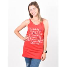 Picture Poem RED dámské bavlněné tílko - L