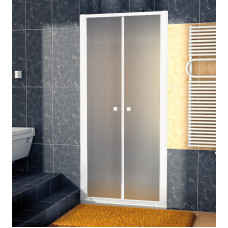 SanSwiss ECP2 0700 04 22 Dvoukřídlé dveře 70 cm, bílá/durlux