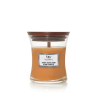 WoodWick vonná svíčka s dřevěným knotem Caramel Toasted Sesame 85g