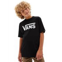 Vans CLASSIC black/white dětské tričko s krátkým rukávem - XL