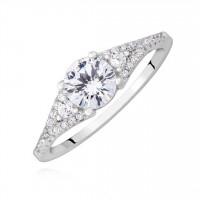 OLIVIE Zásnubní stříbrný prsten 2185 Velikost prstenů: 5 (EU: 47 - 50)