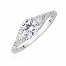 OLIVIE Zásnubní stříbrný prsten 2185 Velikost prstenů: 8 (EU: 57 - 58)