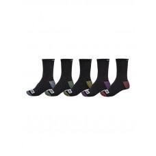 Globe ROMNEY CREW 5 PACK ASSORTED moderní barevné pánské ponožky - 7-11