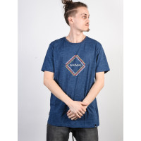 Animal TEZ DARK NAVY MARL pánské tričko s krátkým rukávem - M