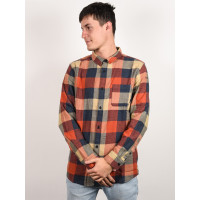 Quiksilver MOTHERFLY BURNT BRICK MOTHERFLY pánská košile dlouhý rukáv - XXL