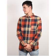 Quiksilver MOTHERFLY BURNT BRICK MOTHERFLY pánská košile dlouhý rukáv - XL