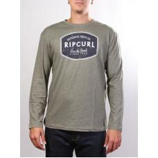 Rip Curl SCRATCHED WINDOW Dusty Olive Mar pánské tričko s dlouhým rukávem - M