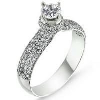 OLIVIE Stříbrný prsten se Swarovski zirkony 1361 Velikost prstenů: 6 (EU: 51 - 53)