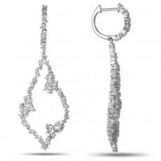 OLIVIE Designové dlouhé stříbrné náušnice 4821