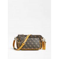 GUESS kabelka Arie Mini Shoulder Bag brown vel.