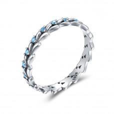 OLIVIE Stříbrný prsten MODRÉ Z NEBE 3252 Velikost prstenů: 6 (EU: 51 - 53)