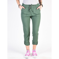 Roxy SYMPHONY LOVER NEW DUCK GREEN plátěné sportovní kalhoty dámské - XS