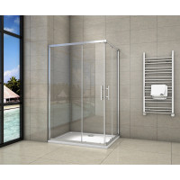 Sprchový kout obdélníkový, SIMPLE 100x70 cm L/P varianta, rohový vstup