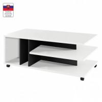 Konferenční stolek na kolečkách DASTI bílá/černá - TempoKondela