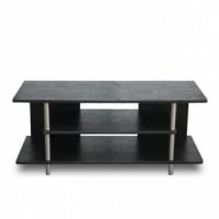 TV stolek QUIDO černo stříbrný - TempoKondela
