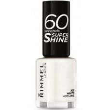 Rimmel London 60 Seconds Super Shine Nail Polish 8ml - 703 White Hot Love