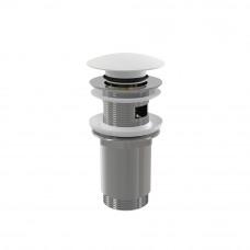 Sifonová vpusť 5/4 click/clack bílá kov velká zátka (ALCAPLAST Plast) A392B (A392B)