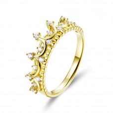 OLIVIE Stříbrný prsten ZLATÁ KORUNKA 3788 Velikost prstenů: 7 (EU: 54 - 56)