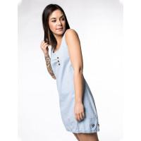 Alife and Kickin CameronAK DNM light denim společenské šaty krátké - XL