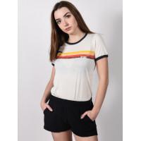 Rip Curl LAST WAVE RINGER BONE dámské tričko s krátkým rukávem - S