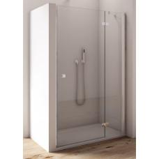 SanSwiss AN13 D 0750 50 07 Jednokřídlé dveře 75 cm s pevnou stěnou v rovině, pravé, aluchrom/sklo