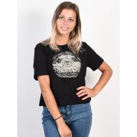 Element TIMBER CROP black dámské tričko s krátkým rukávem - M