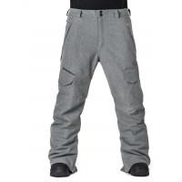 Horsefeathers VOYAGER gray melange pánské softshellové lyžařské kalhoty - XL