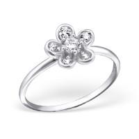 OLIVIE Stříbrný prsten FLOWER 1197 Velikost prstenů: 7 (EU: 54 - 56)
