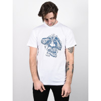 Vans ROWAN ZORILLA GRAPHI white pánské tričko s krátkým rukávem - L