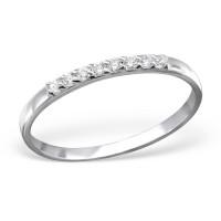 OLIVIE Stříbrný prsten s kubickými zirkony 0954 Velikost prstenů: 8 (EU: 57 - 58)