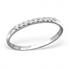 OLIVIE Stříbrný prsten s kubickými zirkony 0954 Velikost prstenů: 6 (EU: 51 - 53)