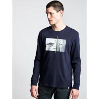 Element OSTRICH APSE ECLIPSE NAVY pánské tričko s dlouhým rukávem - M