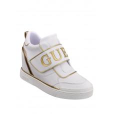GUESS tenisky Follie Hidden Wedge Logo Sneakers bílé vel. 37,5