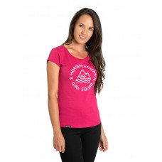 Horsefeathers TASHA rose red dámské tričko s krátkým rukávem - L