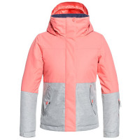 Roxy JETTY GIRL BLOCK SHELL PINK dětská zimní bunda - 14/XL