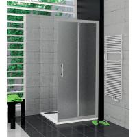 SanSwiss TOPD 0800 01 22 Pravý díl sprchového koutu 80 cm, matný elox/durlux
