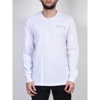 RVCA CHAIN white pánské tričko s dlouhým rukávem - S