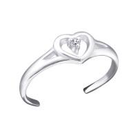 OLIVIE Stříbrný prsten na nohu SRDCE 1796