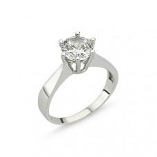 OLIVIE Stříbrný solitérní prsten se zirkonem 1268 Velikost prstenů: 9 (EU: 59 - 61)