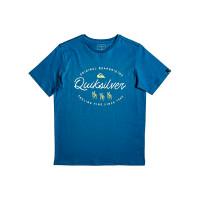Quiksilver WAVE SLAVES CRYSTAL TEAL dětské tričko s krátkým rukávem - XL/16