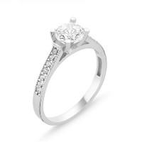 OLIVIE Stříbrný prsten se zirkonem 1364 Velikost prstenů: 5 (EU: 47 - 50)