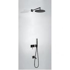 TRES - Vestavěná jednopáková baterie 3V Včetně podomítkového tělesa (3-cestná) Pevná sprcha O 300 mm. s kloubem. Materiál M (21027313NM)