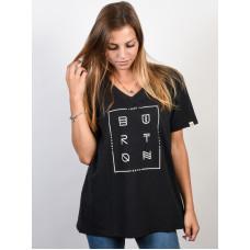 Burton NEVRSLEEP V NECK TRUE BLACK dámské tričko s krátkým rukávem - S