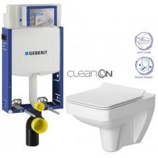 GEBERIT - SET Kombifix KOMBIFIX ECO pro závěsné WC, nádržka UP 320 bez Ovládací desky + WC CERSANIT SPLENDOUR CLEANON + SEDÁTKO (110.302.00.5 SP1)