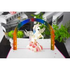 3D přání Růžový jednorožec