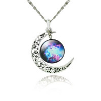 Náhrdelník Měsíční galaxie - 13 motivů Motiv: Měsíční útesy