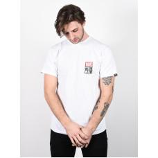 Vans NEW STAX white pánské tričko s krátkým rukávem - L