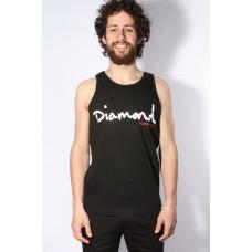 Diamond Supply Co OG SCRIPT TANK black pánské bavlněné tílko - XL
