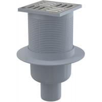 Alcaplast Podlahová vpusť 105x105/50 přímá nerez s kombinovanou zápachovou uzávěrou SMART (APV32)