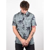 Quiksilver DELI PALM CHINOIS GREEN DELI PALM pánská košile krátký rukáv - L
